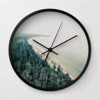 west coast Wall Clocks featuring West Coast by bunderfost