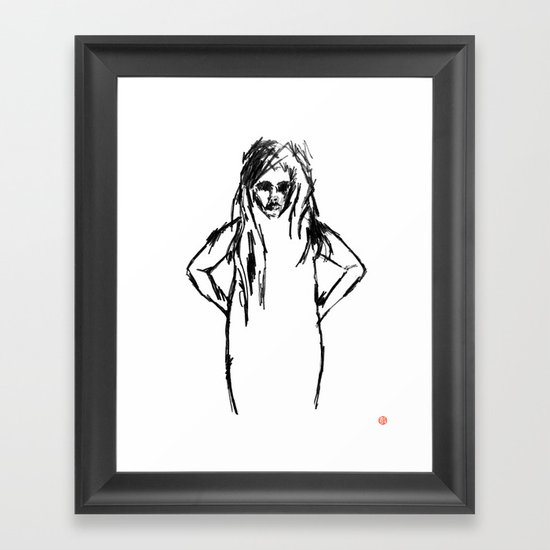 Girls That Lie No.1 Framed Art Print