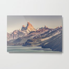 Fitz Roy and Poincenot Andes Mountains - Patagonia - Argentina Metal Print
