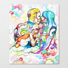 Kiss Like Lovers Do Canvas Print