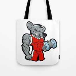 Gym Rat body building training Tote Bag