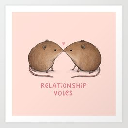Relationship Voles Art Print