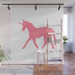 Pink Unicorn Wall Mural