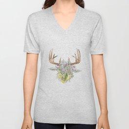 Horns Bohemian Deer #3 Unisex V-Neck