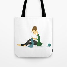 Happy Knitting Tote Bag