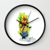 minion Wall Clocks featuring Minion by Siney