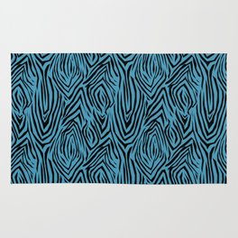 Black and blue abstract pattern. Zebra . Rug