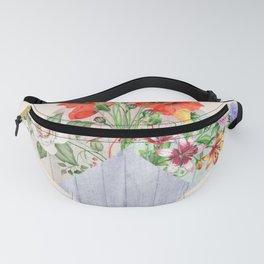Floral Blocks Fanny Pack