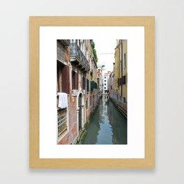 Life on the Canal Framed Art Print