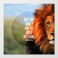 pocketfuel Canvas Prints featuring BOLD AS LIONS by Pocket Fuel