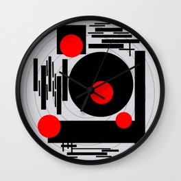 Optical Red Wall Clock