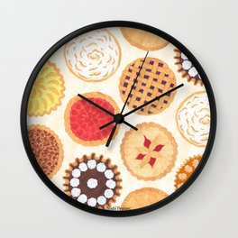 Pies, Pies, Pies Wall Clock