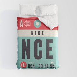 Baggage Tag A - NCE Nice Cote d'Azur France Comforters