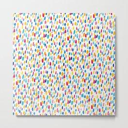 Splatter Dash - Pattern - Bright Colors Metal Print