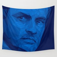 chelsea Wall Tapestries featuring Jose Mourinho / Chelsea FC – Poly by Riccardo Anelli