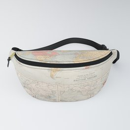 Vintage British Empire World map (1890) Fanny Pack