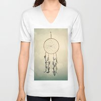 dreamcatcher V-neck T-shirts featuring Dreamcatcher  by Laura Ruth