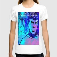 spock T-shirts featuring SPOCK by Saundra Myles