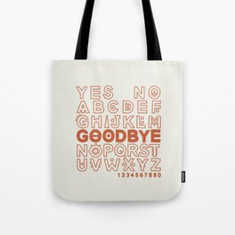 Plastic Bag Ouija Board Tote Bag