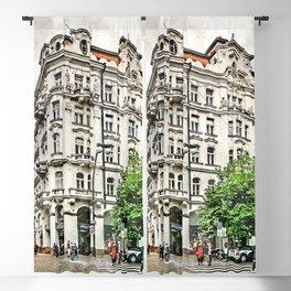 Praha city art #praha #prague Blackout Curtain