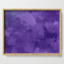 amethyst watercolor abstract Serving Tray