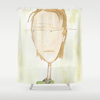 plain Shower Curtains featuring Plain Jane by andreasart