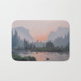 Yosemite Valley Sunrise Pretty Pink Bath Mat