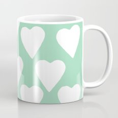 Mint Hearts Coffee Mug