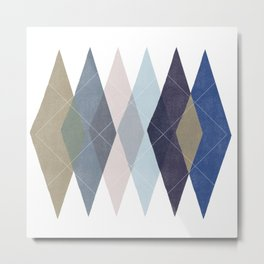 Not Your Father's Argyle Metal Print