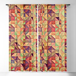 Triangular Patchwork Blackout Curtain