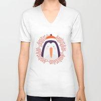 penguin V-neck T-shirts featuring penguin by Taranta Babu