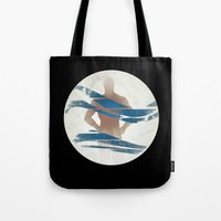 pixies Tote Bags featuring Wave of Mutilation by Ryan W. Bradley