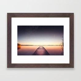 Skinny dip Framed Art Print