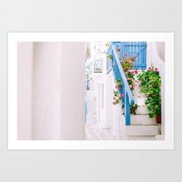Street in Mykonos Art Print