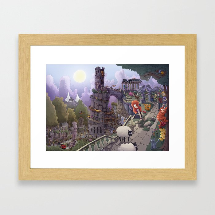 The Tower of Beezl Framed Art Print
