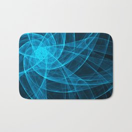 Tulles Star Computer Art in Blue Bath Mat