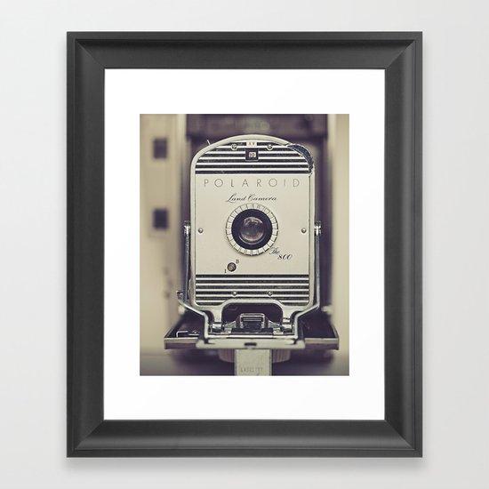 Vintage Polaroid Land Camera The 800 Framed Art Print