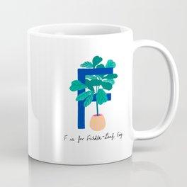 F is for Fiddle-Leaf Fig Coffee Mug