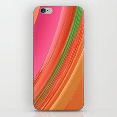 Peach Apricot Mango Bold Stripes iPhone & iPod Skin