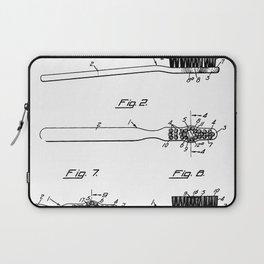 Toothbrush Patent - Bathroom Art - Black And White Laptop Sleeve