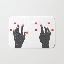 A Touch of Creativity Red Bath Mat