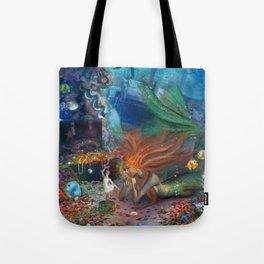 The Mermaid's Treasure Tote Bag