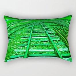 GREEN TRAIN HARD Rectangular Pillow