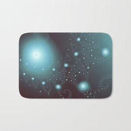 Blue Cosmos Abstract Fractal Art Bath Mat