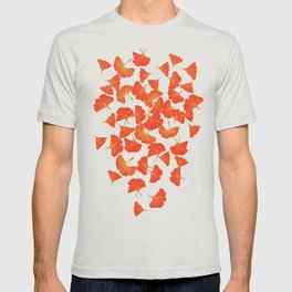 Tumbling Ginkgo Red T-shirt