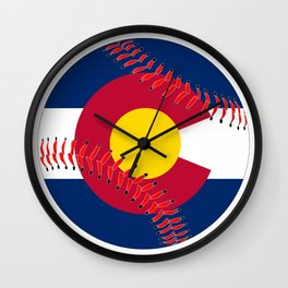 Colorado Flag Baseball Wall Clock