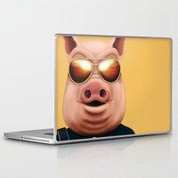 pigs Laptop & iPad Skins featuring PIGS by Brandon Juarez
