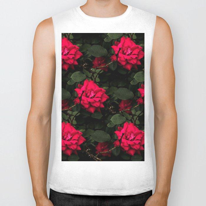 Red Roses Biker Tank