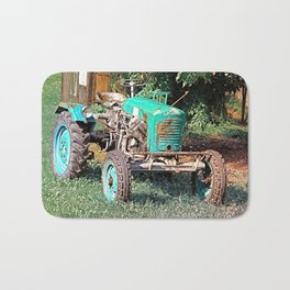 Old traditional Lindner tractor | conceptual photography Bath Mat