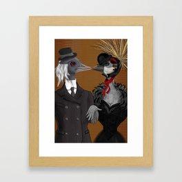 Demoiselle Crane and Grey Crowned Crane Framed Art Print